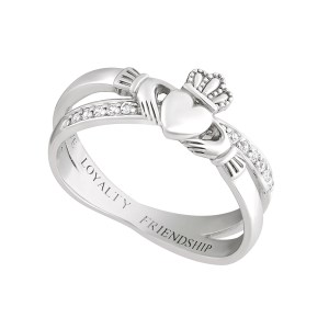 Double Band Sterling Silver Claddagh Ring by Solvar S21063