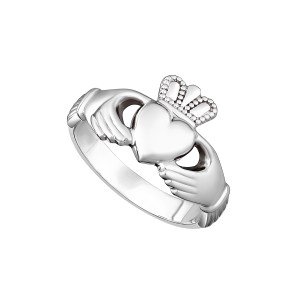 Sterling Silver Maids Claddagh Ring by Solvar S2543