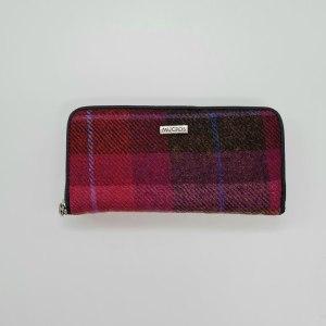 Ladies Wallet Pink Tweed by Mucros Weavers