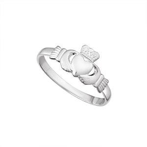 Light Silver Claddagh Ring Solvar S2279