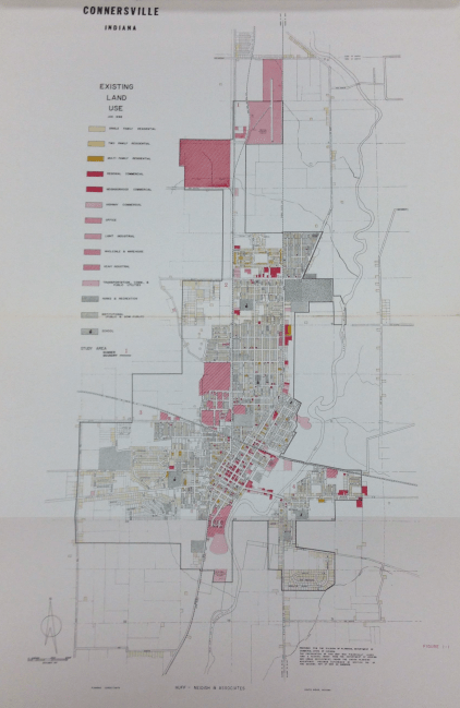 Existing Land Use Map of Connersville, May 1969