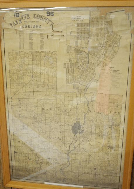 Map of Fayette County, Indiana. Published in 1896.