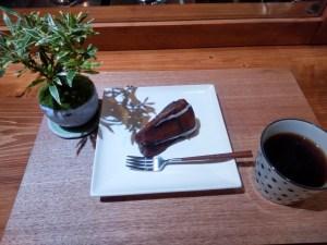コーヒーと盆栽