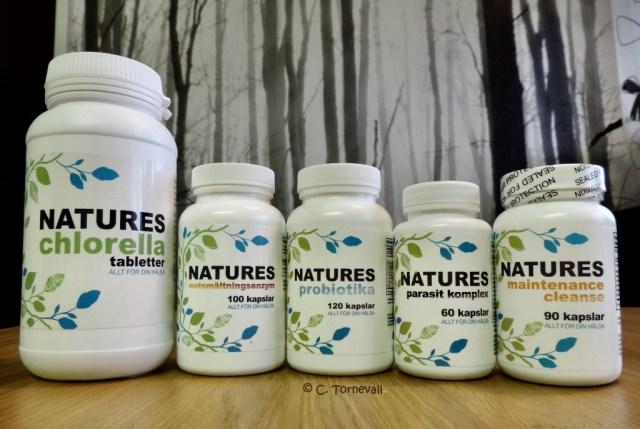 02 Piller Magen Chlorella Matsmältning Probiotika parasitkomplex Maintenance A