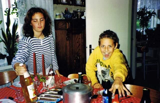 Annelie 1991 och Tomas hos mormor 2 FB