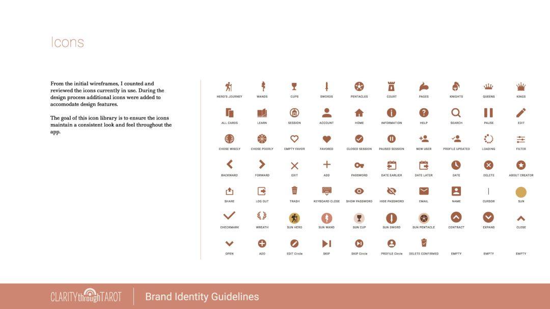 Clarity Through Tarot Design System UI Icons
