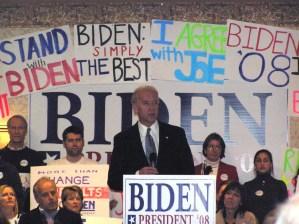 Joe Biden at the podium