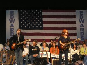 Band playing guitars 2008 Rally