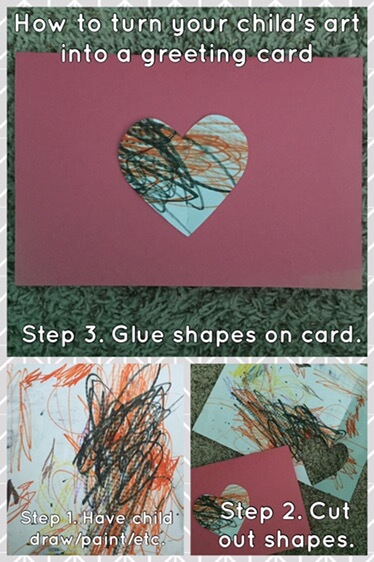 Saving artwork that our children do is something many parents struggle with. How can we save all those art projects? Why not use it to make cards instead?