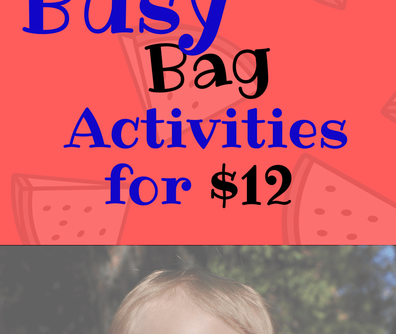 Busy bags are easy activities for toddlers and they're fun activities for preschool too. Busy bags can be simple and easy to set up, if you have the right materials. They're great for fine motor skills practice for 2 and 3 year olds and incorporate lots of creative play and STEM for toddlers and preschool STEM, plus alphabet activities for toddlers and preschoolers. Learn how to make over 60 activities from $12 worth of stuff from a dollar store. Easy DIY activities and easy set up. Great for road trips, airplane rides, and anywhere else you need to occupy your 1 year old or your 2-3 year old.