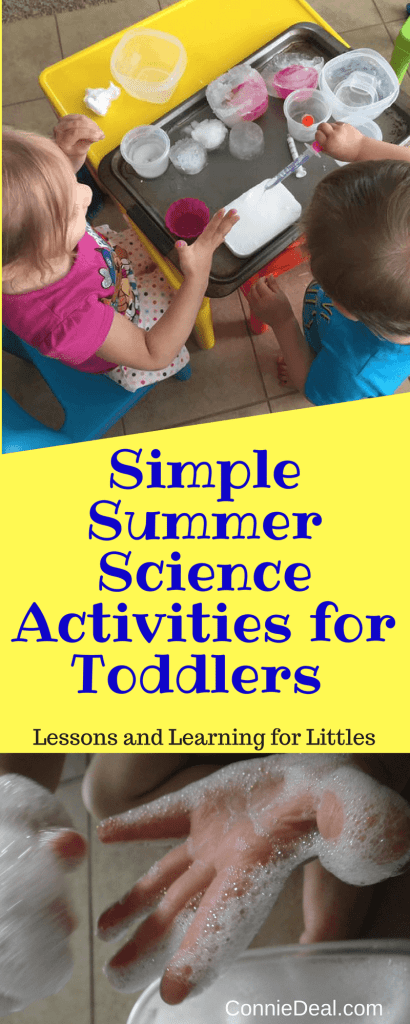 Simple science activities for toddlers that you can set up in 3 minutes or less. Toddler science is a great way to build language skills, incorporate sensory play, and have fun learning. Quick and easy activities for preschoolers too!