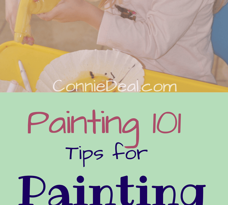 The thought of painting with your toddler might seem a bit daunting. But, it doesn't have to evoke fear! Learn how to make it much more manageable (and fun!) with these #momhacks from Lessons and Learning for Littles. Click through to learn how to make #toddlerart and #painting less messy and more fun! #preschoolart #toddlerartactivity