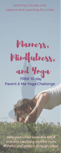 It's no secret that kids like to move. Use that to your advantage to help your child learn the ABCs and practice counting through yoga. Combine that with mindfulness, and you can work on patience and manners too! #yoga #kidsyoga #toddleractivity #mommyandme