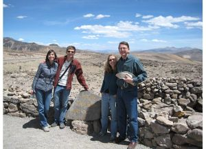 Erin, Brendan, Connie and Rory at 16,000 ft