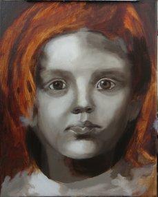2017-03-08 Portrait - 'Grace' (Oils) - Part 3b Grisaille Softened
