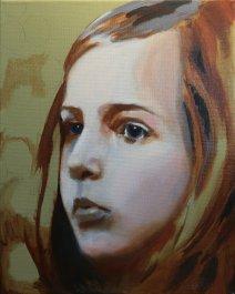 2017-03-08 Portrait - 'Imogen' (Oils) - Part 5b - Adding First Color (1)