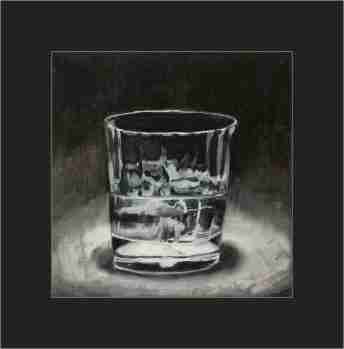 'Water Glass in Black & White'