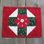 Quilted Christmas Mug Rug Tutorial Freemotion By The River