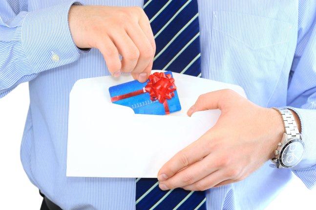 gift card in envelope