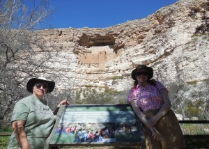 Me on the left and friend J.A. Marlow on the right at Montezuma's Castle National Monument