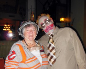 Me and the hubby for Halloween