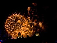 Canada Day 2011 071-2 Parliament Hill Golden Fireworks