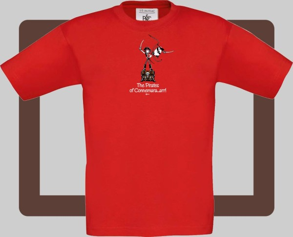 Our kids connemara red t-shirts are bright and fun for kids of all ages | T-shirts from Conn O'Mara for Connemara kids.