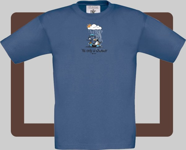 Our kids connemara denim t-shirts are bright and fun for kids of all ages | T-shirts from Conn O'Mara for Connemara kids.