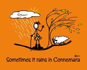 """Connemara clothing """"sometimes it rains"""" t-shirt"""