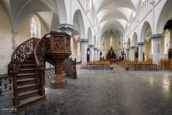 belgium church urbex