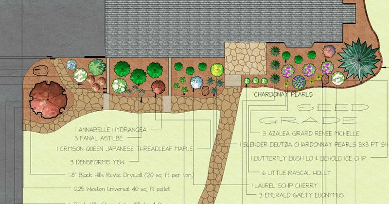 2D landscape design