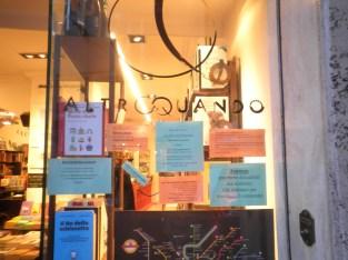 Libreria Altroquando nascosta a Via del Governo Vecchio, tutta da scoprire.