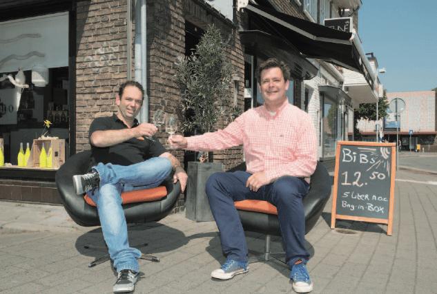 Wethouder Floris Voorink en ondernemer Ewout Jansen