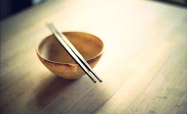 etiqueta japonesa en la comida