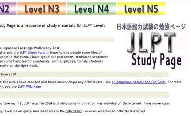 JLPT study page
