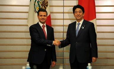 Peña Nieto y Shinzo Abe