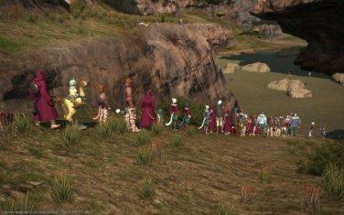 fila en un MMORPG