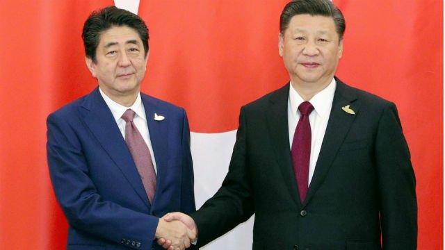 los jefes de estado de China y de Japón se reunieron en el G20
