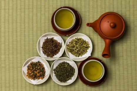 Diferentes tipos de té japonés