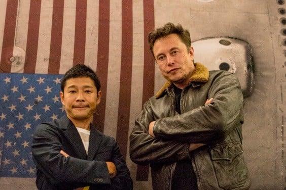 Yusaku Maezawa y Elon Musk
