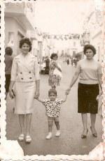 1960 - Paseo por las fiestas del Carmen.