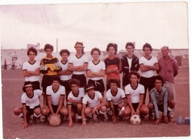 HESPERIDES C.F.JUVENIL ,PRINCIPIOS AÑOS 80. SERGIO, JUAN RAMON, FRANCIS HERNANDEZ, ANGEL, BONILLA, TOBA, ROJAS, F. J. VIERA, TINO, AGUSTIN el Tarrala. Foto de Marcos Ventura Nieves