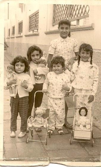 Lucita, Mª Carmen, Lina, Pepita y Adelaida. Día de Reyes