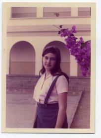 Delia Vega en el Colegio León y Castillo, principios de los 70, los niños estaban separados de las niñas.