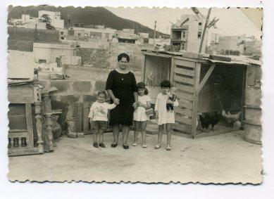 Corrales en azotea de casa terrera de La Isleta