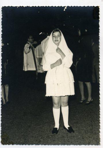 El sacerdote Don Agustín Monroy, años 60, buen del Carmen, en Semana Santa, Foto de Delia Vega
