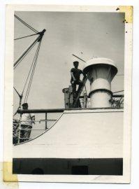 Años 60 Vicente Vega, capataz en el Puerto, portuario. Foto de Delia Vega