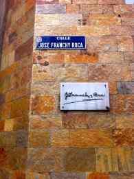 Placas de la Calle Franchy Roca