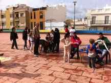 Actividades con los niños... los chiquillos salieron encantados, gran labor la de los voluntarios, pintando y haciendo globoflexia