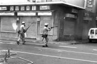 Foto huelga flota congeladora de ANACEF. 1988. Barrio de La Isleta